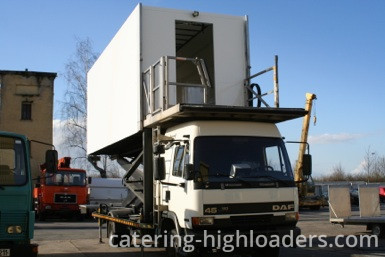 Catering Highloader lifted view from front