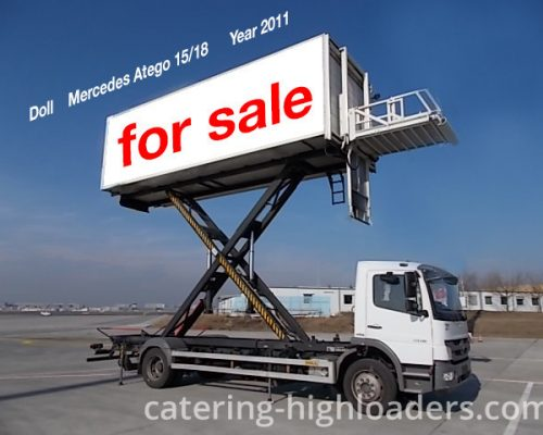 Doll Catering Truck lifted up with a for sale sign