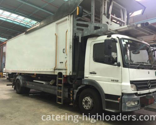 Catering Truck Mallaghan standing in a hall.